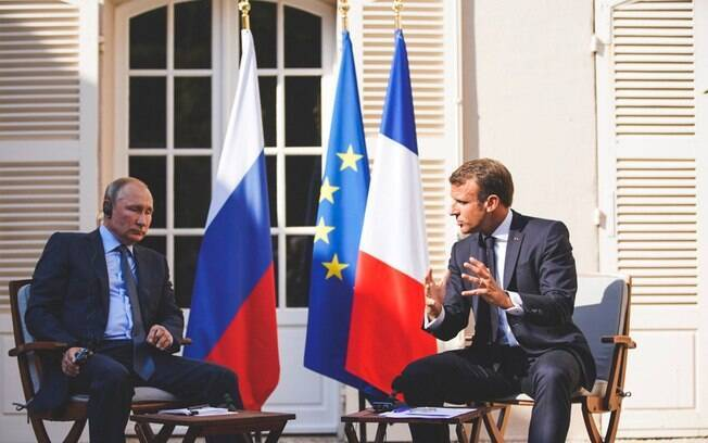 Macron disse que a relação entre Rússia e França é determinante para o cenário internacional