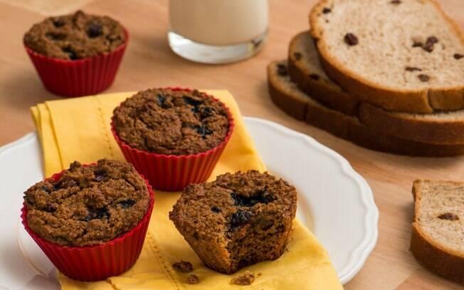 O bolinho de mirtilo é um café da manhã gostoso, diferente e saudável