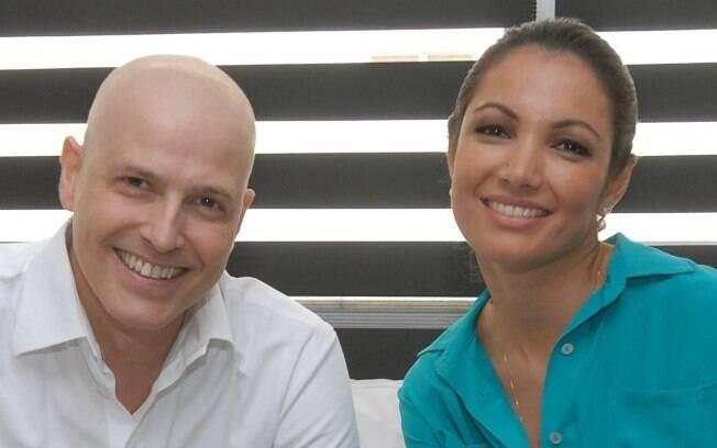 Reynaldo Gianecchini com a sobrancelha mais rala, quando deu entrevista para Patrícia Poeta no Fantástico, em novembro
