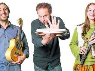 Caldeirão. Grupo é formado por Francisco Medina (esquerda), Matthias Haffner (centro) e Mariana Bruekers (direita)