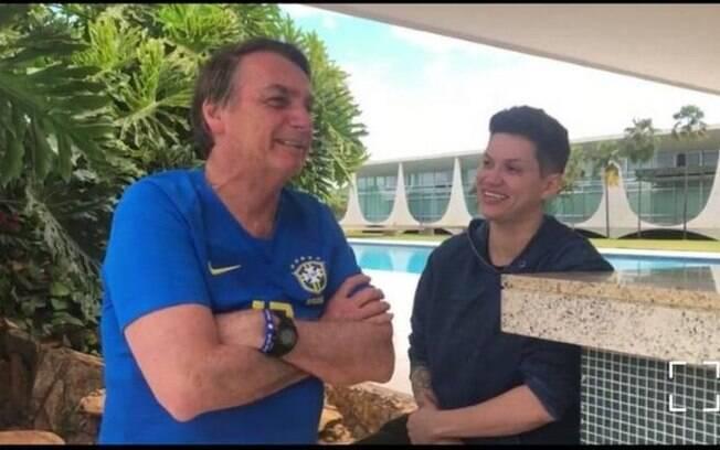 Jair Bolsonaro e Karol Eller