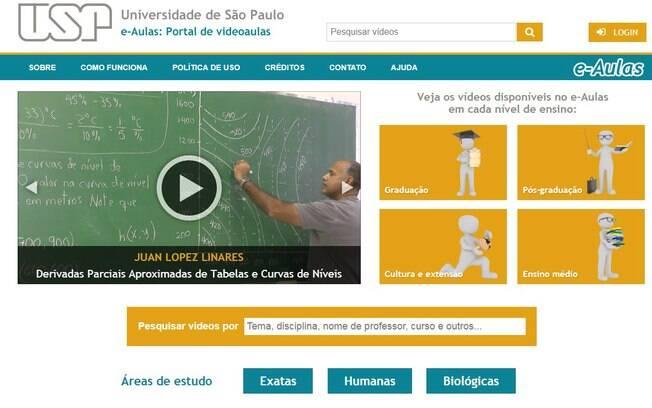Acesso ao Portal e-Aulas da USP também é liberado para os interessados que não sejam alunos da universidade