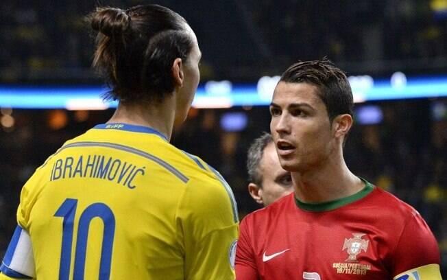 Ibrahimovic e Cristiano Ronaldo já se enfrentaram defendendo suas seleções e também seus clubes