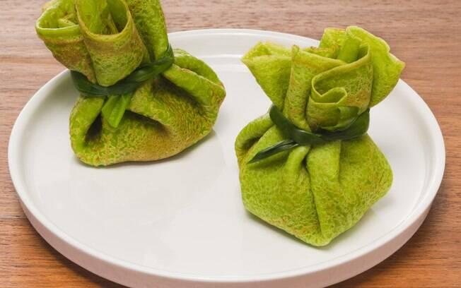 Foto da receita Panquecas de espinafre com recheio de ricota pronta.
