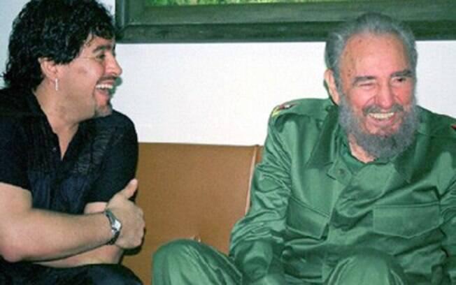 Maradona e Fidel Castro tinham excelente relação