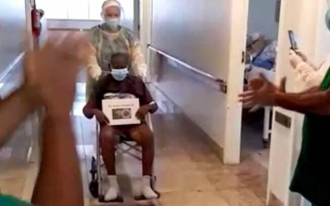 Davino, de 110 anos, se recuperou da Covid-19 em Campos dos Goytacazes
