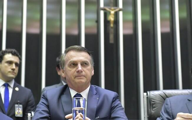 Jair Bolsonaro assinou termo de posse em sessão solene no Congresso Nacional