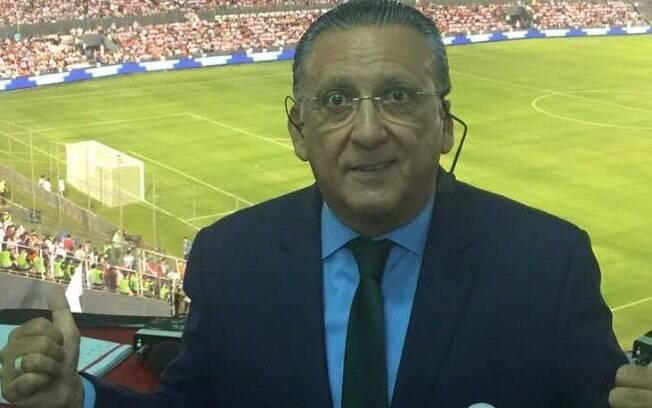 O apresentador Galvão Bueno comandará uma partida de LoL em programa do SporTV