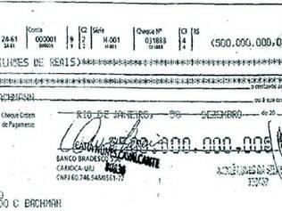 Cópia do cheque milionário recebido por Arianna com valor errado