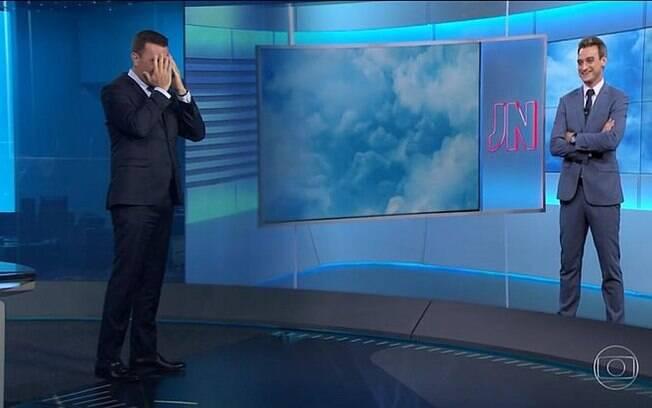 Rodrigo Bocardi comete gafe no Jornal Nacional ao dar