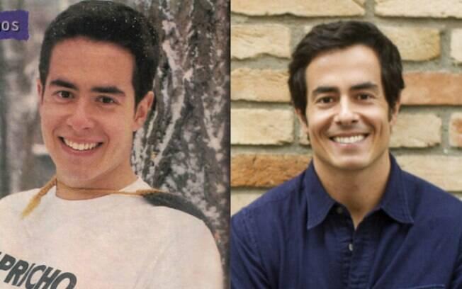 Felipe Folgosi, aos 20 anos de idade, e hoje, quando completa 20 anos de carreira