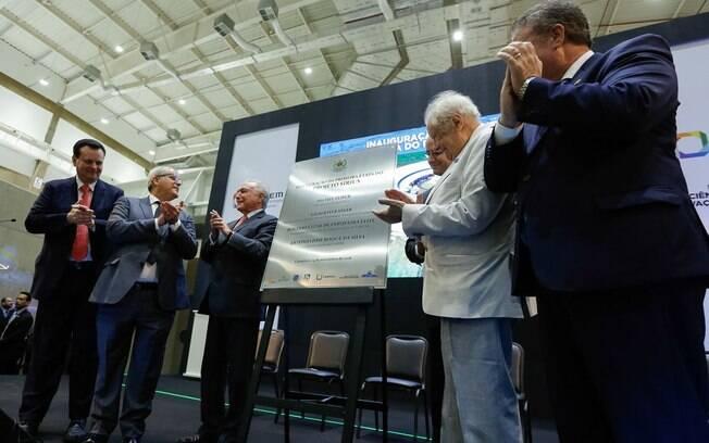 Presidente da República, Michel Temer, inaugura acelerador de partículas em Campinas