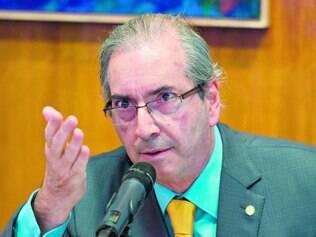 """Reação.  Eduardo Cunha negou que esteja tramando contra Janot, mas citou ação como """"desespero"""""""