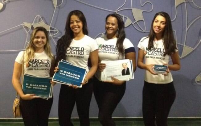Cabo eleitorais do candidato Marcelo Castro nos corredores da Câmara
