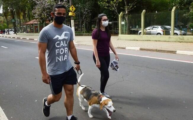 Cachorros recebem até inalação para enfrentar tempo seco