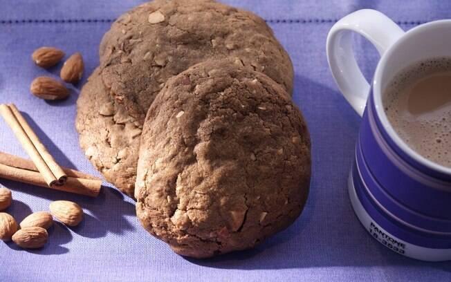 Cookie de amêndoas e canela