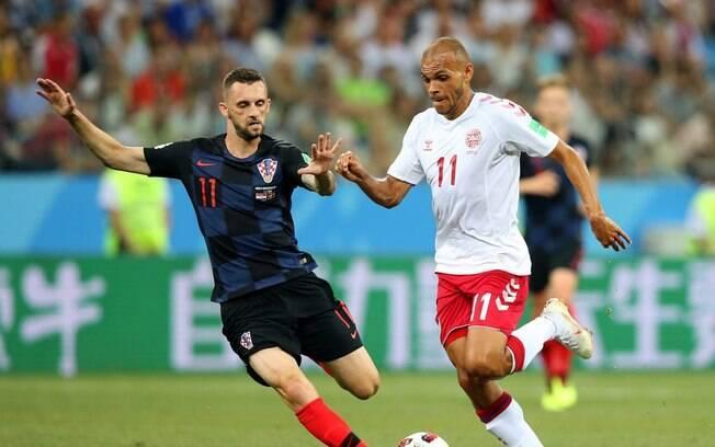 Croácia e Dinamarca se enfrentaram pelas oitavas de final da Copa do Mundo