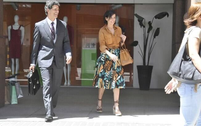 Eduardo Moscovis e Deborah Secco em gravação de