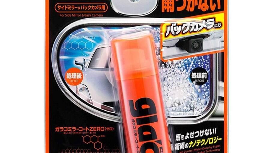 Vendido em cartelas, um frasco do Glaco Mirror Coat Zero 40ml, segundo o importador do produto, rende até 10 retrovisores.