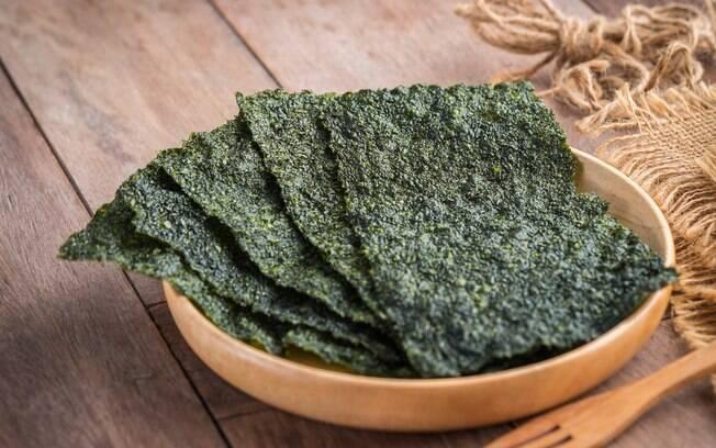 A alga Nori é rica em nutrientes e serve para substituir o bacalhau