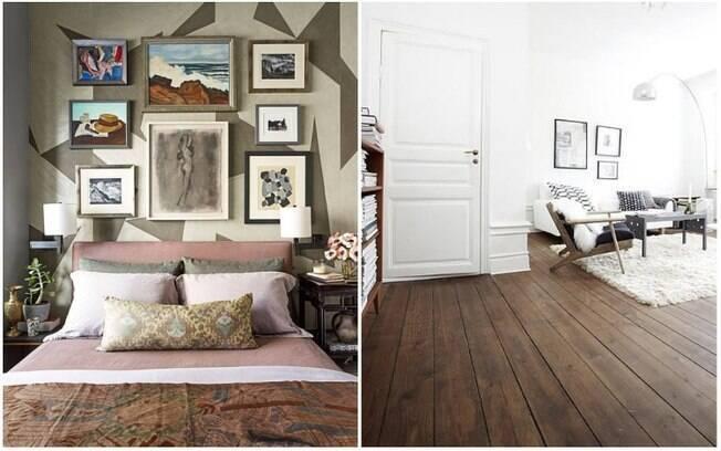 Na hora de 'vestir' a casa, usar quadros e elementos feitos de madeira também ajuda a melhorar o aquecimento