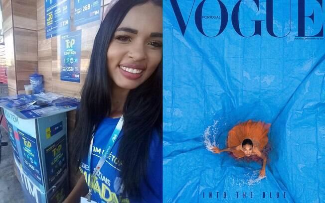 Emilly Nunes estampa a capa da Vogue Portugal em outubro
