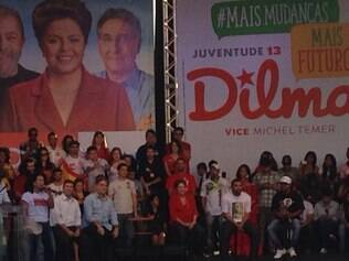 Comício de Dilma Rousseff na Pampulha durou cerca de 30 minutos
