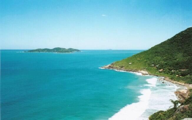 Praia do Saquinho, em Florianópolis