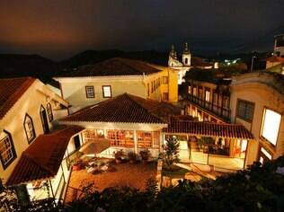 Vista do pátio do Solar do Rosário, em Ouro Preto