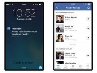 O novo recurso do Facebook notifica o usuário de que um outro amigo que também utiliza o recurso está próximo