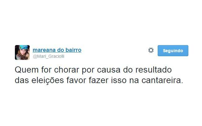 Tweet brinca com a seca da Cantareira e o 'choro' dos tucanos. Foto: Reprodução