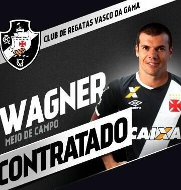 Meia Wagner é o terceiro reforço do Vasco para 2017; veja a movimentação