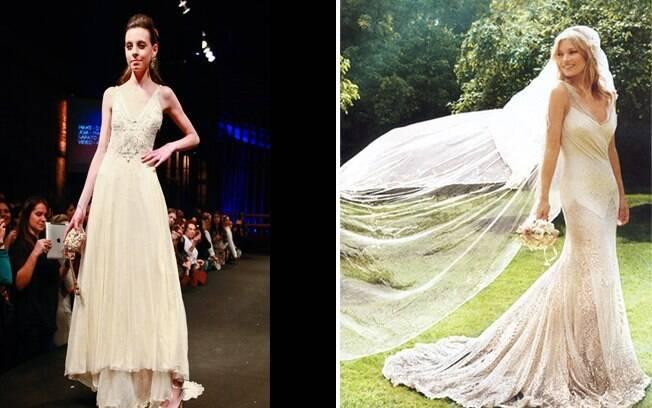 Estilo folk: para mulheres marcantes, como Kate Moss. Vestido de Lethicia Bronstein exibido na Bride Style 2011