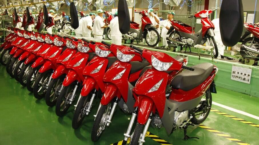 Linha de montagem de motos foi a que menos foi afetada pela falta de semicondutores na indústria