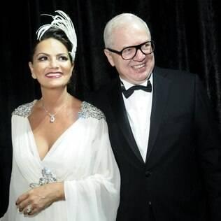 Luzia Brunet e o namorado Lírio Parisotto: