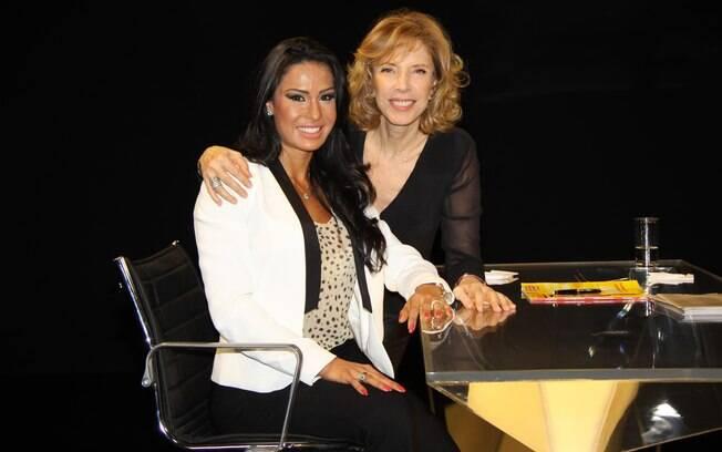 Gracyanne Barbosa com Marília Gabriela no