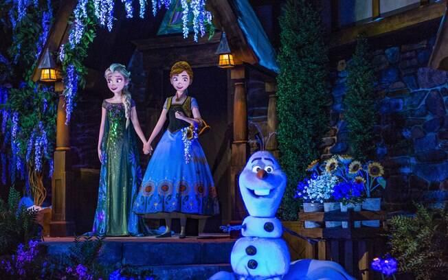 Frozen Ever After está entre as atrações da Disney baseadas no famoso filme Frozen