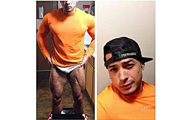 Noivo de Juju Salimeni abaixou a calça para mostrar as pernas musculosas