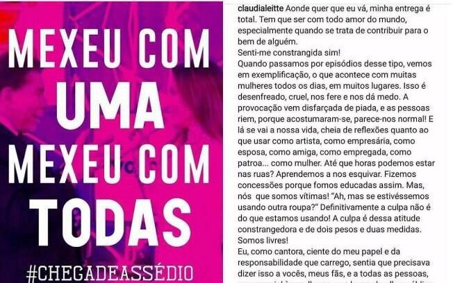 Famosas compartilham tag e texto em apoio a Claudia Leitte após falas de Silvio Santos