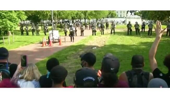 Protesto em Washington, EUA: este domingo foi sexto dia de manifestações antirracistas