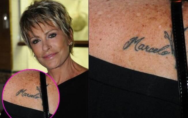 Ana Maria Braga e a tatuagem em homenagem ao marido feita em 2010