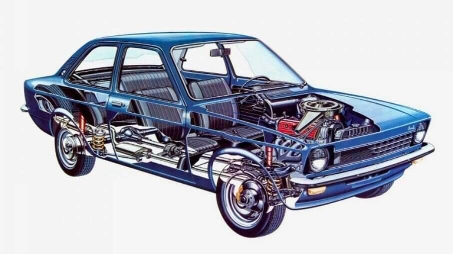 O Chevette foi o primeiro carro nacional com comando de válvulas no cabeçote acionado por correia dentada