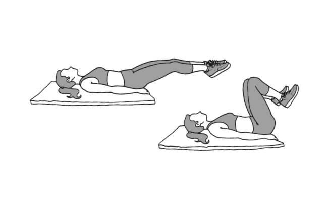 Exercício para o abdômen inferior