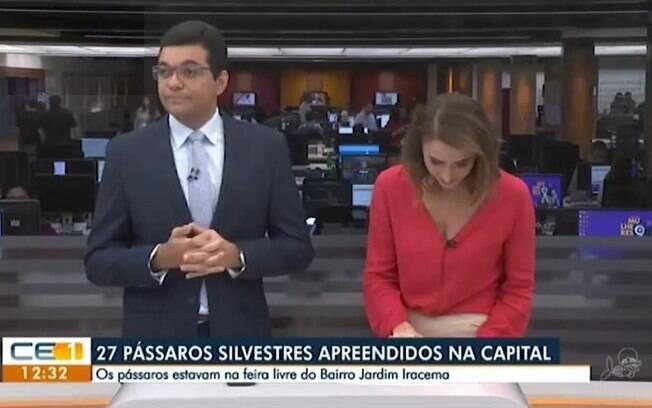 Luiz Esteves e Patrícia Nielsen, apresentadores do