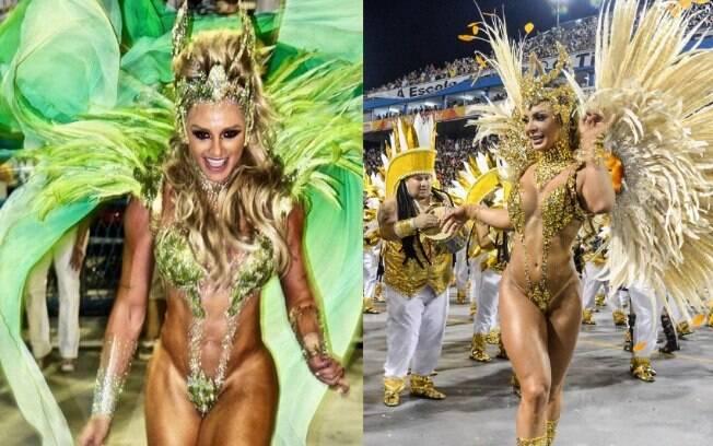 Rainha do Peruche, Priscilla Santtana, usa fantasia parecida com a que Juju Salimeni usou no ano passado