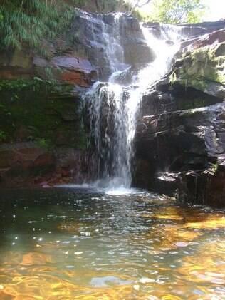 Uma das inúmeras cachoeiras da região, conhecida por sua aridez