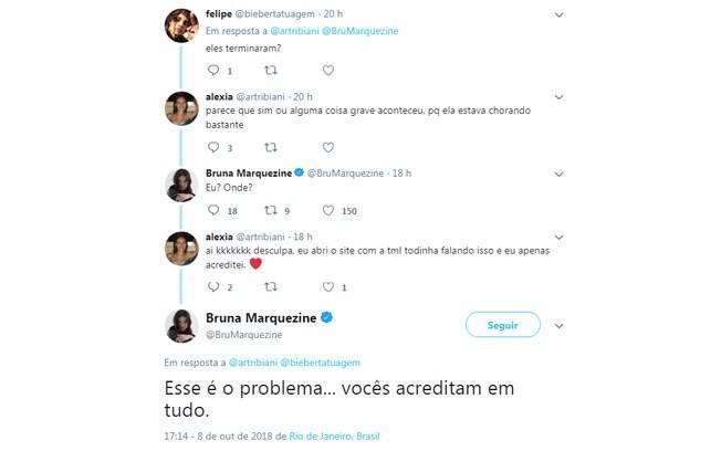 Bruna Marquezine rebate fãs sobre fim de seu relacionamento com Neymar