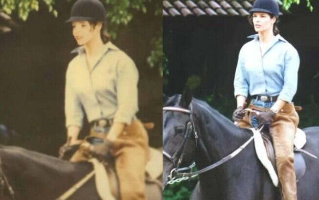 A foto de Helena Ranaldi foi usada para representar Deborah Evelyn jovem em