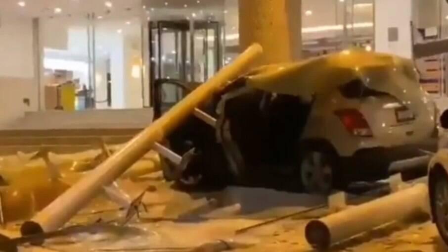 Hotel destruído pelo terremoto no México