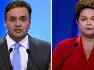 Aécio confronta Dilma em debate.